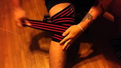 Купить коленные бинты INZER Iron Z Knee Wraps 2 м как наматывать