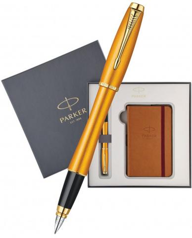 Подарочный набор: Блокнот и Перьевая ручка URBAN Premium Mandarin с позолотой