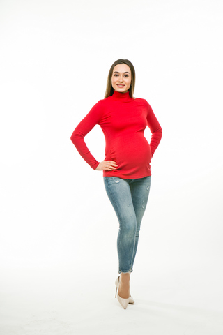 Водолазка для беременных 11289 красный
