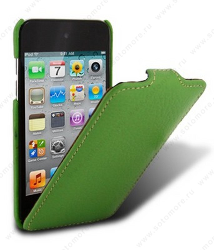 Чехол-флип Melkco для Apple iPod Touch 4th Leather Case Jacka Type (Green LC)
