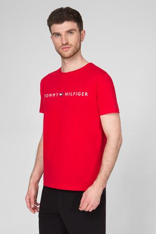 Мужская красная футболка CN SS LOGO Tommy Hilfiger