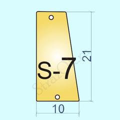 Купить пришивные зеркала для купальника Light Gold S-7