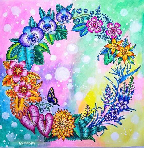Печать на сахарной бумаге, Цветы 8