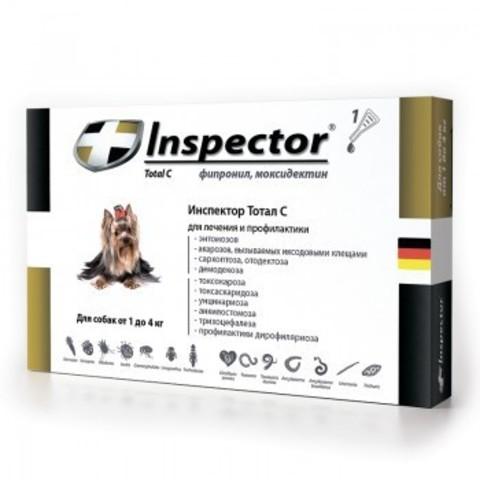Инспектор для собак весом менее 4 кг, 1 пипетка
