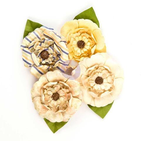 Набор цветов  из ткани St. Tropez Flowers - 4шт/6см - St. Tropez