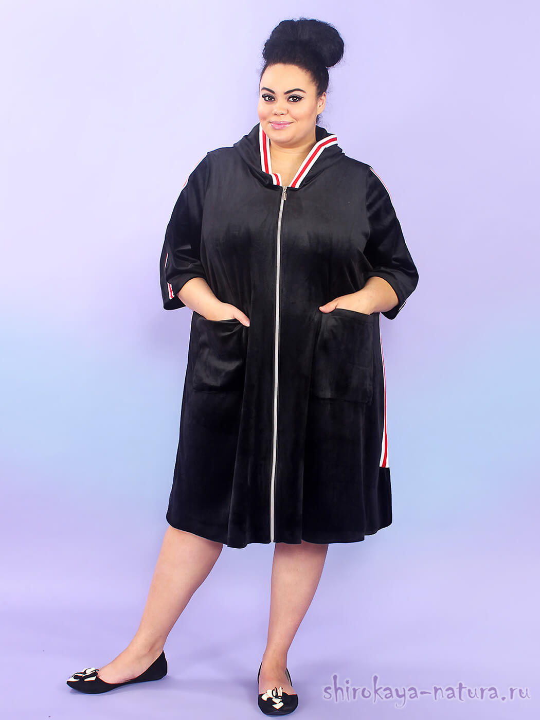 Велюровый халат Дарси