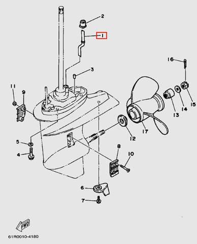 Трубка водяная для лодочного мотора Т30 Sea-PRO (18-1)