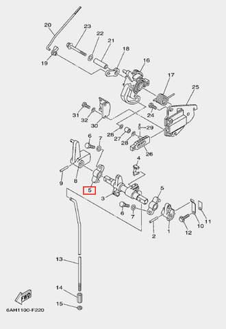 Кронштейн 2 для лодочного мотора F20 Sea-PRO (18-5)