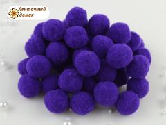 Бархатные помпоны Люкс фиолетовые