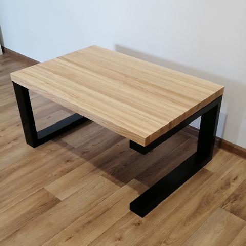 Журнальный столик из натурального дуба в стиле лофт