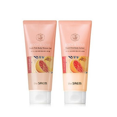 THE SAEM Body & Soul Набор для тела BODY & SOUL Fresh Pink Body Set 2*200мл