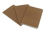 Блокнот Moleskine Cahier Large 130х210мм обложка картон 80стр линейка бежевый 3шт (QP416)