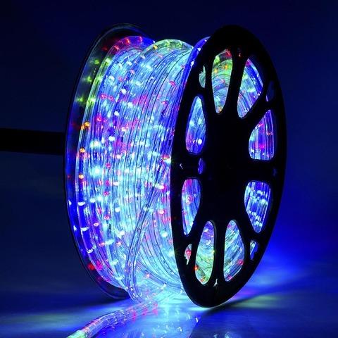 LED гирлянда дюралайт разноцветная мультик купить цена 50 метров отрезок кусок