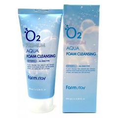 Farmstay O2 Premium Aqua Foam Cleansing - Очищающая пенка с кислородом