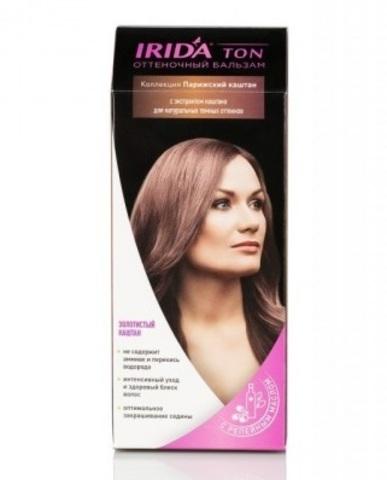 Irida Irida Ton Оттеночный бальзам для окраски волос Золотистый каштан 2*25мл