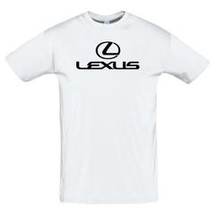 Футболка с принтом Лексус (Lexus) белая-2