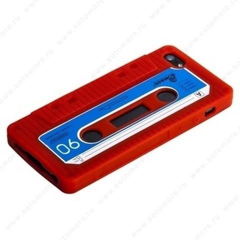 Накладка силиконовый для Apple iPhone SE/ 5s/ 5C/ 5 кассета красный