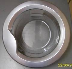 Люк в сборе, серебристый, стиральной машины БЕКО 2842700400