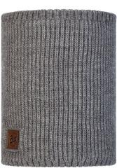 Вязаный шарф-труба с флисом Buff Neckwarmer Knitted Polar Rutger Melange Grey