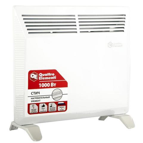 Нагреватель воздуха конвекторный QUATTRO ELEMENTI QE-1000KS (1кВт)  (790-496)