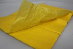 Бумага тишью желтая 76 х 50 см, 10 листов 28 г/м
