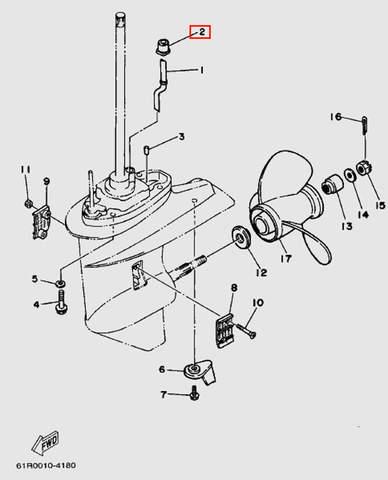 Сальник трубки водяной для лодочного мотора Т30 Sea-PRO (18-2)
