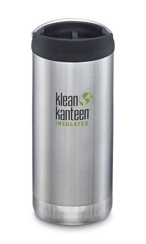 Термобутылка Klean Kanteen TKWide Cafe Cap 12oz (355 мл) Brushed Stainless