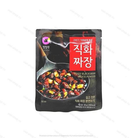 Корейская основа для приготовления соуса из черных соевых бобов Fried black bean sauce powder, 80 гр.