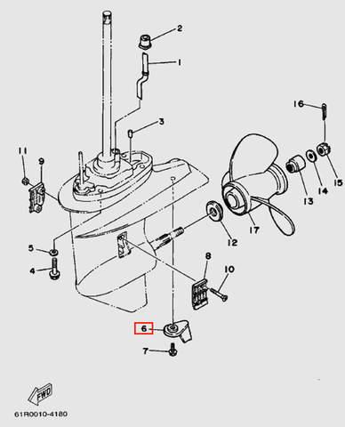 Анод с плавником для лодочного мотора Т30 Sea-PRO (18-6)