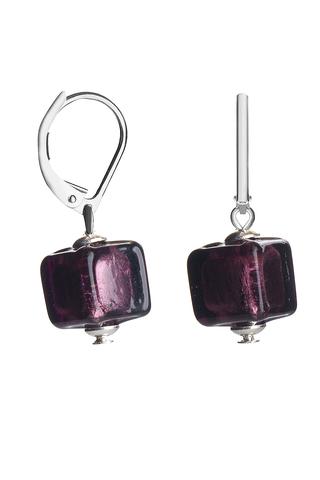 Серьги Perla Cubo Piccolo фиолетовые