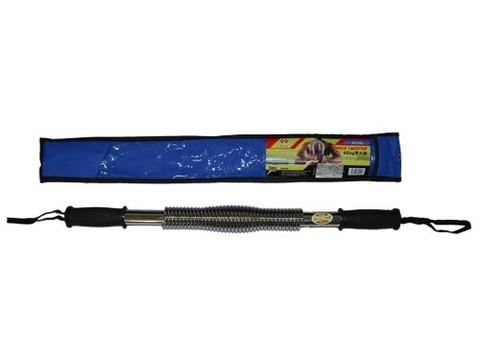 Эспандер - палка нагрузка 30 кг. ( хромированный металл, пластиковые ручки ) :(D1230):
