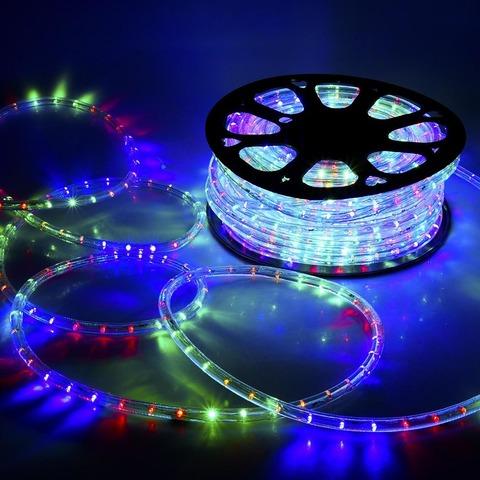 RGB гирлянда дюралайт 50 метров купить лед LED wtyf