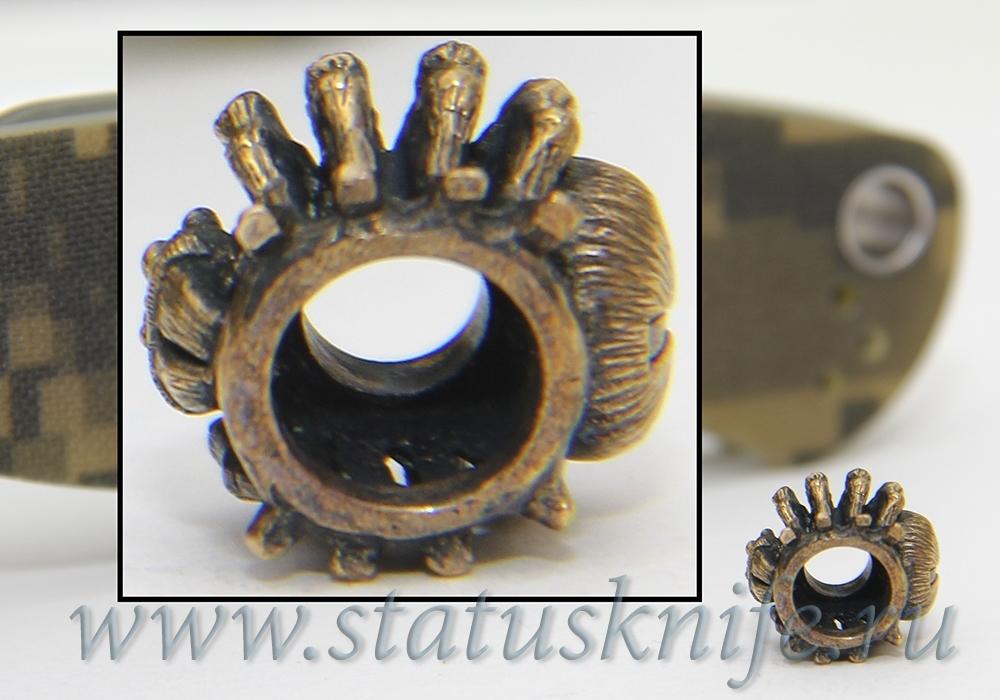 Темлячная бусина Паук - фотография