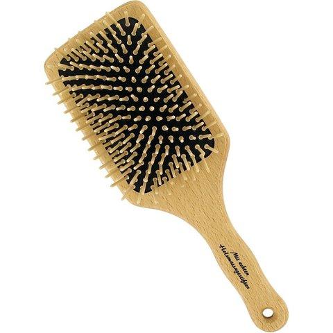 Деревянная щетка для волос прямоугольная с деревянными зубчиками Förster's