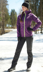 Ветрозащитный спортивный костюм Nordski Motion Purple/Black женский