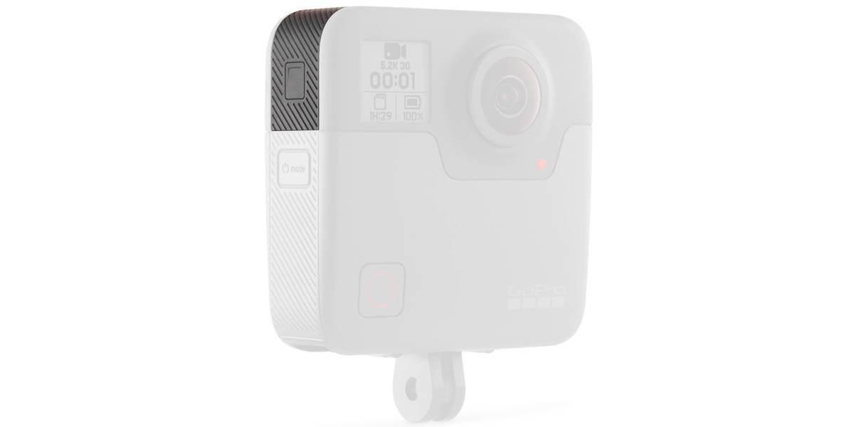 Запасная крышка для GoPro FUSION Replacement Door (ASIOD-001) на камере вид слева