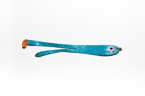 Плоская приманка Двухвост (Double Tail) голубой