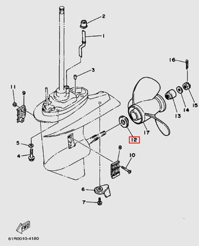 Опорная шайба гребного винта для лодочного мотора Т30 Sea-PRO (18-12)