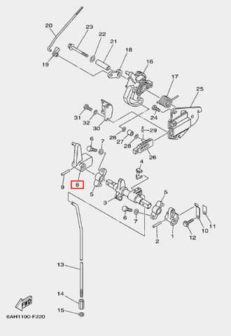 Рычаг вала п-п для лодочного мотора F20 Sea-PRO (18-8)