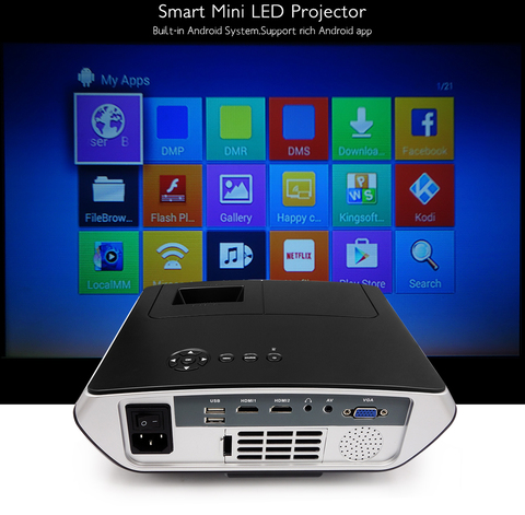 LED Проектор Rigal RD-803 Android WiFi