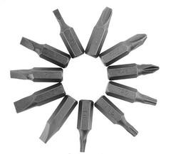 5 плоских бит, 3 звездочки, 3 фигурные для аккумуляторной отвертки x-power 6 V фото