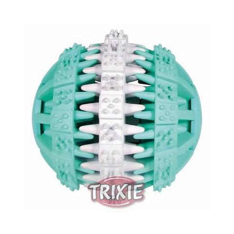 """Trixiе 32942 Игрушка д/собак """"мяч """"dentafun"""" бело/зеленый, резина ф7,5см"""