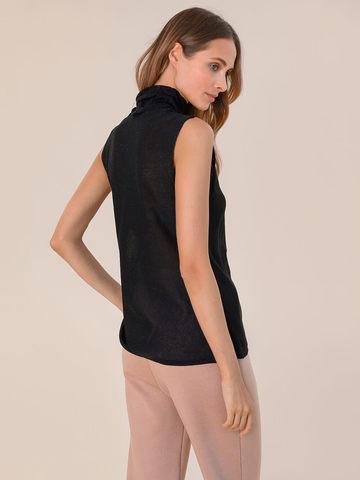 Женский свитер без рукавов черного цвета из вискозы - фото 4
