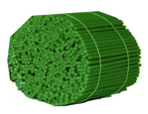 Свечи №140 восковые, зеленые