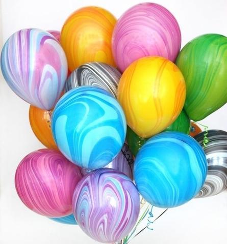 Воздушные шары агат разноцветные