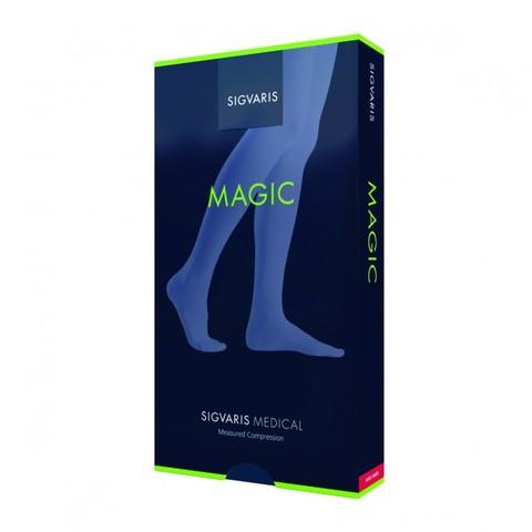 Чулки до паха Sigvaris Magic, 1 класс компрессии, закрытый мысок