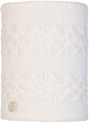 Вязаный шарф-труба с флисом Buff Neckwarmer Knitted Polar Savva White