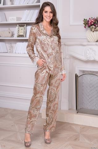 Комплект брючный женский шелковый Mia-Amore  CLEMENTINA КЛЕМЕНТИНА 3456