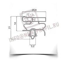Уплотнитель 70*57см для холодильника  Electrolux ERB34090X (морозильная камера) Профиль 010