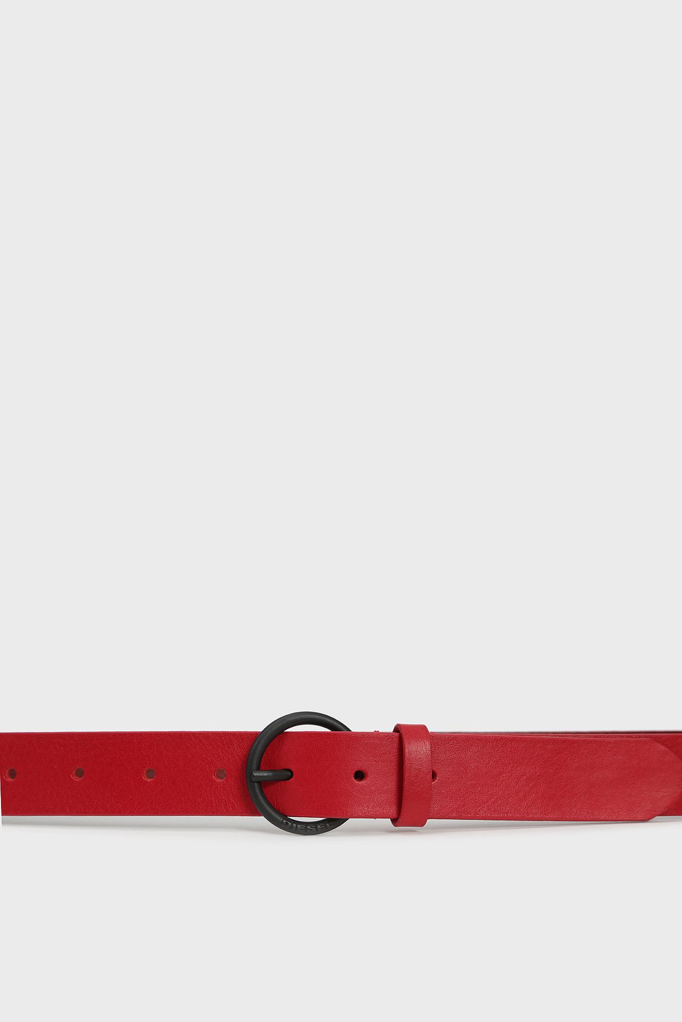 Женский красный кожаный ремень B-RING Diesel